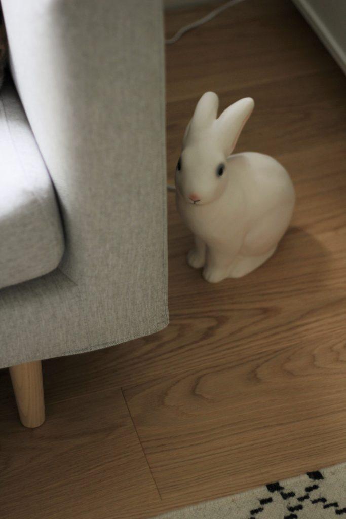 Kanain inspiroimana Heicon pupuvalaisin löysi täydellisen paikan lattialta.
