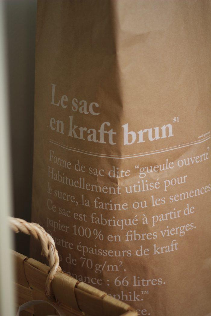 le sac en kraft brun